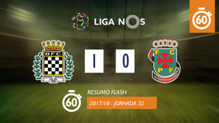 Liga NOS (32ªJ): Resumo Flash Boavista FC 1-0 FC P.Ferreira