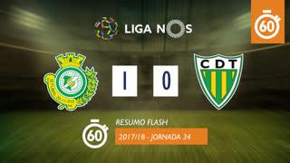 Liga NOS (34ªJ): Resumo Flash Vitória FC 1-0 CD Tondela