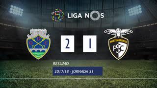 Liga NOS (31ªJ): Resumo GD Chaves 2-1 Portimonense