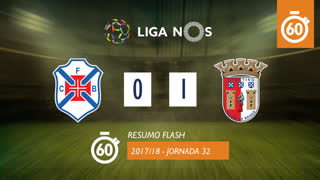 Liga NOS (32ªJ): Resumo Flash Belenenses SAD 0-1 SC Braga