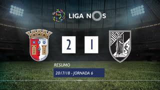 Liga NOS (6ªJ): Resumo SC Braga 2-1 Vitória SC