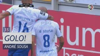 GOLO! Os Belenenses, André Sousa aos 35', CD Feirense 0-3 Os Belenenses