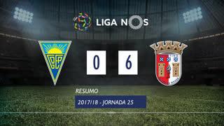 Liga NOS (25ªJ): Resumo Estoril Praia 0-6 SC Braga