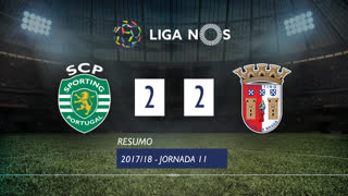 Liga NOS (11ªJ): Resumo Sporting CP 2-2 SC Braga