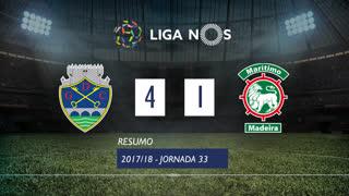Liga NOS (33ªJ): Resumo GD Chaves 4-1 Marítimo M.