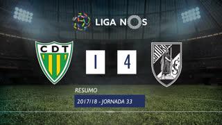 Liga NOS (33ªJ): Resumo CD Tondela 1-4 Vitória SC
