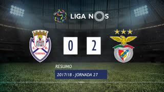 Liga NOS (27ªJ): Resumo CD Feirense 0-2 SL Benfica
