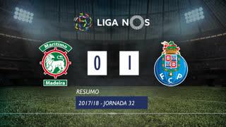 Liga NOS (32ªJ): Resumo Marítimo M. 0-1 FC Porto
