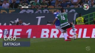 Sporting CP, Caso, Rodrigo Battaglia aos 13'
