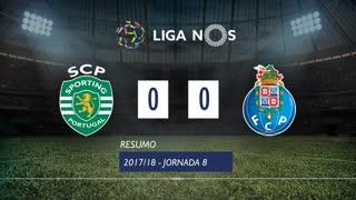 Liga NOS (8ªJ): Resumo Sporting CP 0-0 FC Porto