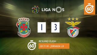 Liga NOS (24ªJ): Resumo Flash FC P.Ferreira 1-3 SL Benfica