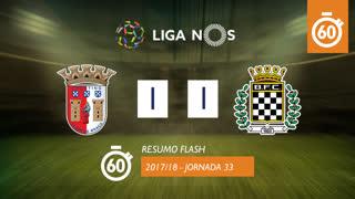 Liga NOS (33ªJ): Resumo Flash SC Braga 1-1 Boavista FC