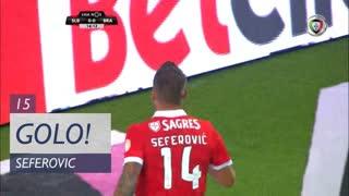 GOLO! SL Benfica, H. Seferovic aos 15', SL Benfica 1-0 SC Braga