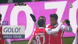 GOLO! SC Braga, Dyego Sousa aos 87', SC Braga 3-0 FC P.Ferreira