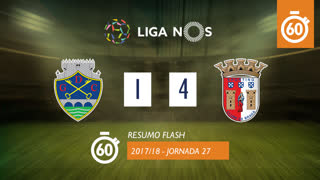 Liga NOS (27ªJ): Resumo Flash GD Chaves 1-4 SC Braga
