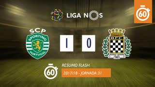 Liga NOS (31ªJ): Resumo Flash Sporting CP 1-0 Boavista FC