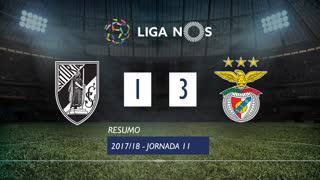 Liga NOS (11ªJ): Resumo Vitória SC 1-3 SL Benfica