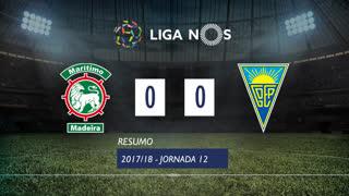 Liga NOS (12ªJ): Resumo Marítimo M. 0-0 Estoril Praia