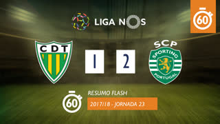 Liga NOS (23ªJ): Resumo Flash CD Tondela 1-2 Sporting CP