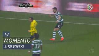 Sporting CP, Jogada, S. Ristovski aos 18'