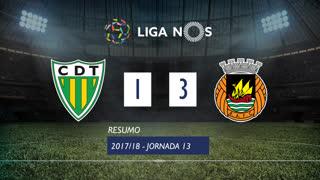 Liga NOS (13ªJ): Resumo CD Tondela 1-3 Rio Ave FC