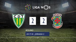 I Liga (5ªJ): Resumo CD Tondela 2-2 FC P.Ferreira