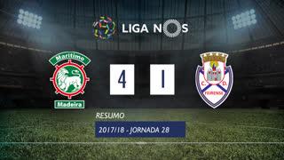 Liga NOS (28ªJ): Resumo Marítimo M. 4-1 CD Feirense