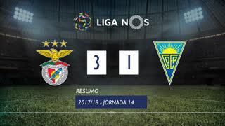 Liga NOS (14ªJ): Resumo SL Benfica 3-1 Estoril Praia