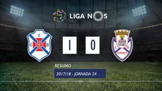 Liga NOS (24ªJ): Resumo Belenenses 1-0 CD Feirense