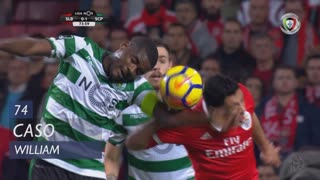 Sporting CP, Caso, William aos 74'