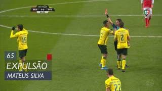 FC P.Ferreira, Expulsão, Mateus Silva aos 65'