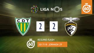 Liga NOS (29ªJ): Resumo Flash CD Tondela 2-2 Portimonense