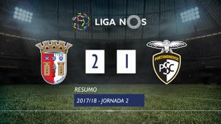 Liga NOS (2ªJ): Resumo SC Braga 2-1 Portimonense