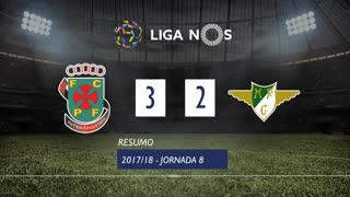 Liga NOS (8ªJ): Resumo FC P.Ferreira 3-2 Moreirense FC
