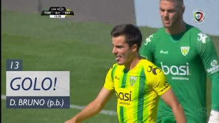GOLO! Estoril Praia, David Bruno (p.b.) aos 13', CD Tondela 0-1 Estoril Praia