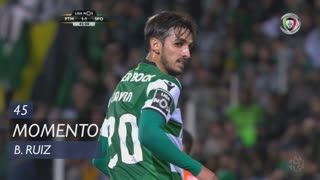 Sporting CP, Jogada, B. Ruiz aos 45'