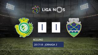 Liga NOS (3ªJ): Resumo Vitória FC 1-1 GD Chaves