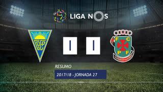 Liga NOS (27ªJ): Resumo Estoril Praia 1-1 FC P.Ferreira
