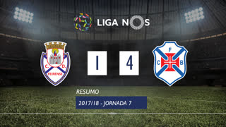 Liga NOS (7ªJ): Resumo CD Feirense 1-4 Os Belenenses