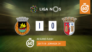 Liga NOS (34ªJ): Resumo Flash Rio Ave FC 1-0 SC Braga