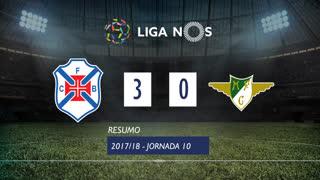 Liga NOS (10ªJ): Resumo Belenenses 3-0 Moreirense FC