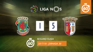 I Liga (30ªJ): Resumo Flash FC P.Ferreira 1-5 SC Braga