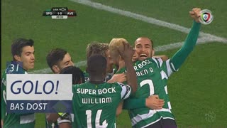 GOLO! Sporting CP, Bas Dost aos 31', Sporting CP 1-0 CD Aves
