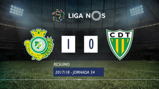 Liga NOS (34ªJ): Resumo Vitória FC 1-0 CD Tondela