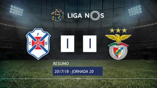 Liga NOS (20ªJ): Resumo Belenenses 1-1 SL Benfica