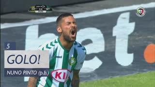 GOLO! Estoril Praia, Nuno Pinto (p.b.) aos 5', Estoril Praia 1-0 Vitória FC