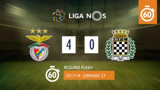 Liga NOS (23ªJ): Resumo Flash SL Benfica 4-0 Boavista FC