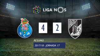 Liga NOS (17ªJ): Resumo FC Porto 4-2 Vitória SC