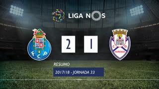 Liga NOS (33ªJ): Resumo FC Porto 2-1 CD Feirense