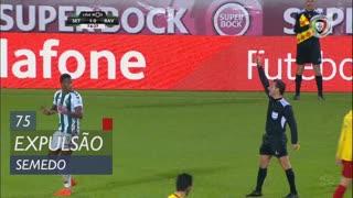 Vitória FC, Expulsão, Semedo aos 75'